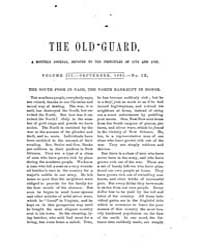 The Old Guard : Volume 0003, Issue 9 Sep... by C. Chauncey Burr and Co
