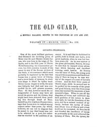 The Old Guard : Volume 0004, Issue 3 Mar... by C. Chauncey Burr and Co
