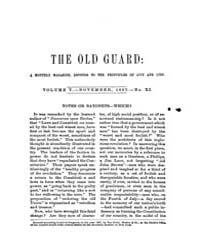 The Old Guard : Volume 0005, Issue 11 No... by C. Chauncey Burr and Co