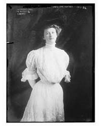 Mrs. Joe Leiter, Standing, Three-quarter... by Library of Congress