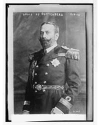 Louis of Battenberg, in Uniform, Photogr... by Library of Congress