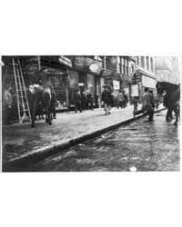 N.Y.C. - Broadway - Mounted Police Clear... by Library of Congress