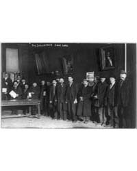 Shoe Line - Bowery Men Waiting for Shoes... by Library of Congress