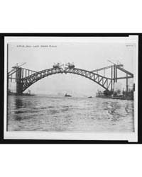 Arch, Hell Gate Bridge Under Constructio... by Library of Congress