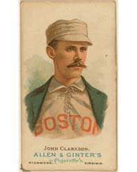 John Clarkson, Boston Beaneaters by Allen & Ginter