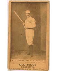 Dick Johnston, Boston Beaneaters by Goodwin & Co.