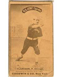 John Clarkson, Chicago White Stockings by Goodwin & Co.