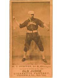 Fred Pfeffer, Chicago White Stockings by Goodwin & Co.