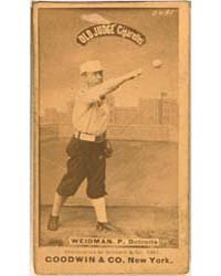 Stump Weidman, Detroit Wolverines by Goodwin & Co.