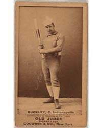 Dick Buckley, Indianapolis Hoosiers by Goodwin & Co.
