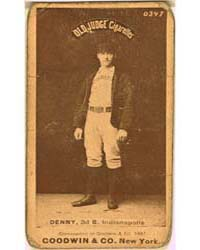 Jerry Denny, Indianapolis Hoosiers by Goodwin & Co.