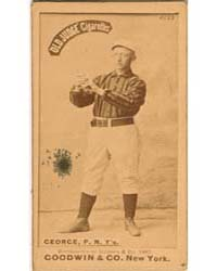 Bill George, New York Giants by Goodwin & Co.
