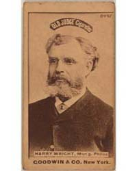 Harry Wright, Philadelphia Quakers by Goodwin & Co.