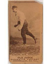 Willie Kuehne, Pittsburgh Alleghenys by Goodwin & Co.