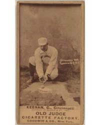 Jim Keenan, Cincinnati Red Stockings by Goodwin & Co.