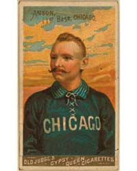 Cap Anson, Chicago White Stockings by Goodwin & Co.
