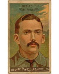 Fred Dunlap, Pittsburgh Alleghenys by Goodwin & Co.