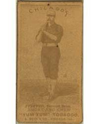 Fred Pfeffer, Chicago White Stockings by August Beck & Company