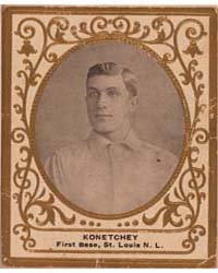 Konetchey, St. Louis Cardinals by American Tobacco Company