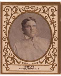 Cicotte, Boston Red Sox by American Tobacco Company