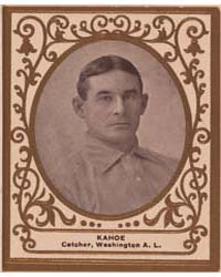 Mike Kahoe, Washington Nationals by American Tobacco Company