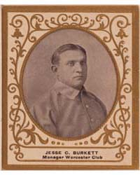 Jesse C. Burkett, Worcester Team by American Tobacco Company