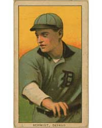 Boss Schmidt, Detroit Tigers by American Tobacco Company