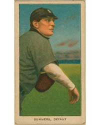 Ed Summers, Detroit Tigers by American Tobacco Company