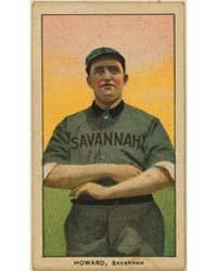 Ernie Howard, Savannah Team, Baseball Ca... by American Tobacco Company