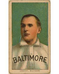 Peter Cassidy, Baltimore Team by American Tobacco Company