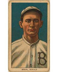 Dave Brain, Buffalo Team, Baseball Card ... by American Tobacco Company