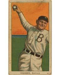 Rube Kissinger, Buffalo Team, Baseball C... by American Tobacco Company