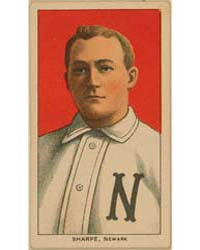 Bud Sharpe, Newark Team, Baseball Card P... by American Tobacco Company