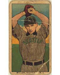 Miller, Seattle Team, Baseball Card Port... by American Tobacco Company