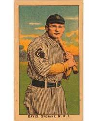 Davis, Spokane Team, Baseball Card Portr... by American Tobacco Company