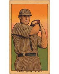Gaddy, Tacoma Team, Baseball Card Portra... by American Tobacco Company