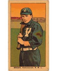 Breen, Vancouver Team, Baseball Card Por... by American Tobacco Company