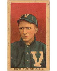 Brown, Vancouver Team, Baseball Card Por... by American Tobacco Company