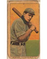 Howard, Los Angeles Team, Baseball Card ... by American Tobacco Company