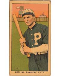 Hetling, Portland Team, Baseball Card Po... by American Tobacco Company