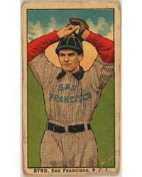 Byrd, San Francisco Team, Baseball Card ... by American Tobacco Company