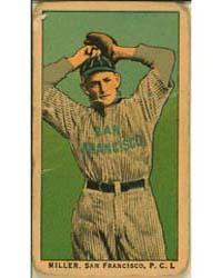 Miller, San Francisco Team, Baseball Car... by American Tobacco Company