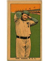 Hitt, Vernon Team, Baseball Card Portrai... by American Tobacco Company