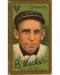 Beals Becker, New York Giants, Baseball ... by American Tobacco Company