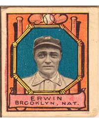 Tex Erwin, Brooklyn Dodgers by Helmar Tobacco Company