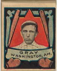 Dolly Gray, Washington Nationals by Helmar Tobacco Company