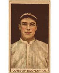 Robert Coulson, Brooklyn Dodgers, Baseba... by American Tobacco Company