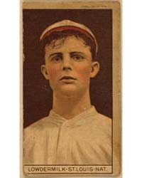 Louis Lowdermilk, St. Louis Cardinals, B... by American Tobacco Company