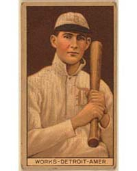 Ralph Works, Detroit Tigers, Baseball Ca... by American Tobacco Company