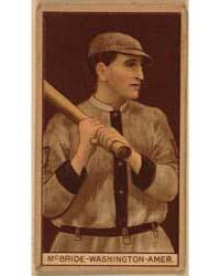 George McBride, Washington Nationals, Ba... by American Tobacco Company